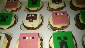 Cup Cakes de Mine Craft