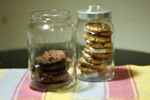 Galletas de Doble Chocolate y Avena y Pasas