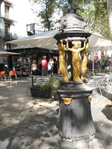 Fuente Wallace en Las Ramblas Barcelona
