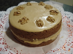 Torta de Cafe y nueces
