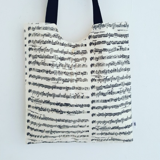 Totebag musica by Sak Bags & Crafts